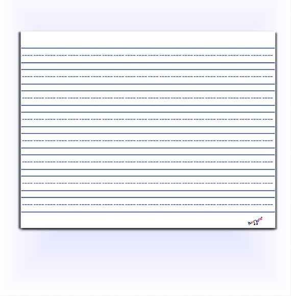 line paper for kindergarten