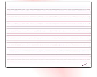 Handwriting Paper for Kids - Kindergarten, Elementary, Preschool, Homeschool