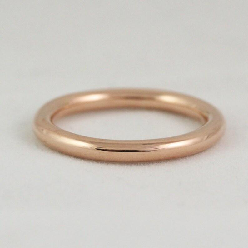 72397e0bd7266 2.6mm Full Round Ring - 14k / 18k / 22k / 24k Solid Gold Wedding Band -  Yellow, Rose, or White Gold Stacking Ring