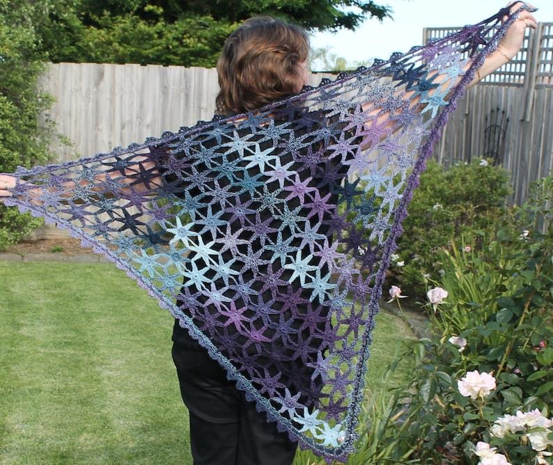 Crochet Pattern  Starry Shawl image 0