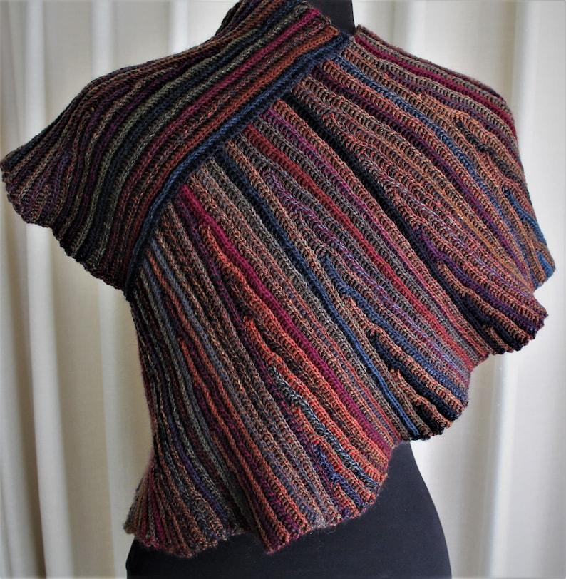 Crochet Pattern  Furrowed Fields Shawl/wrap image 0