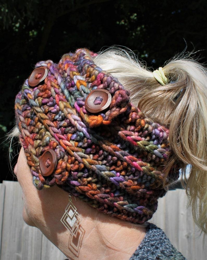 Crochet Pattern  Entwined headband and collar image 0