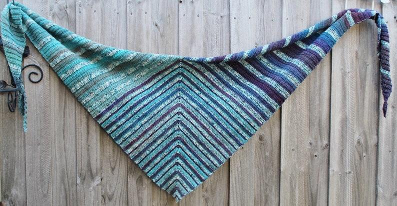 Crochet Pattern Triple Treat Shawl image 0