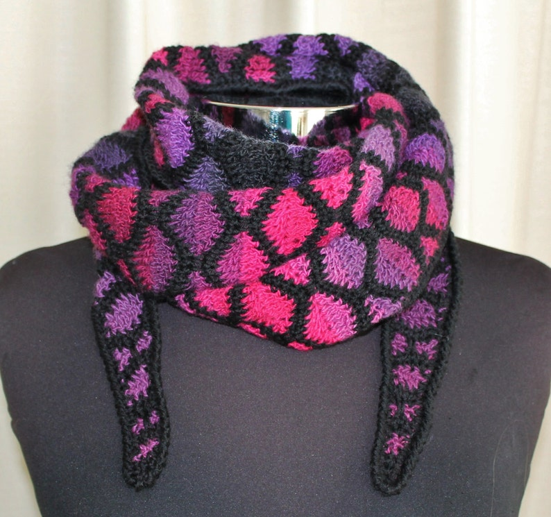 Crochet Pattern  Stained Glass shawlette image 0