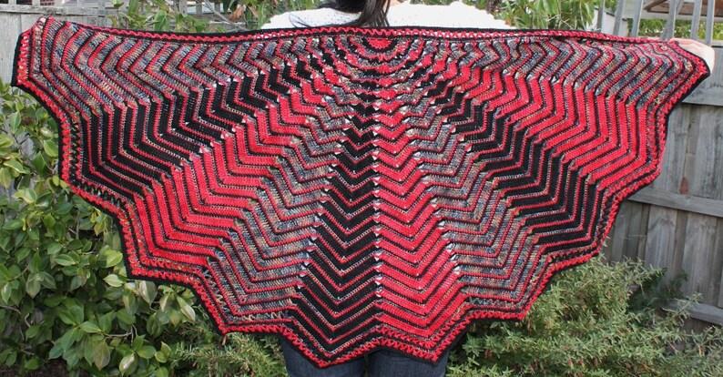 Crochet Pattern Web of Dreams shawl image 0