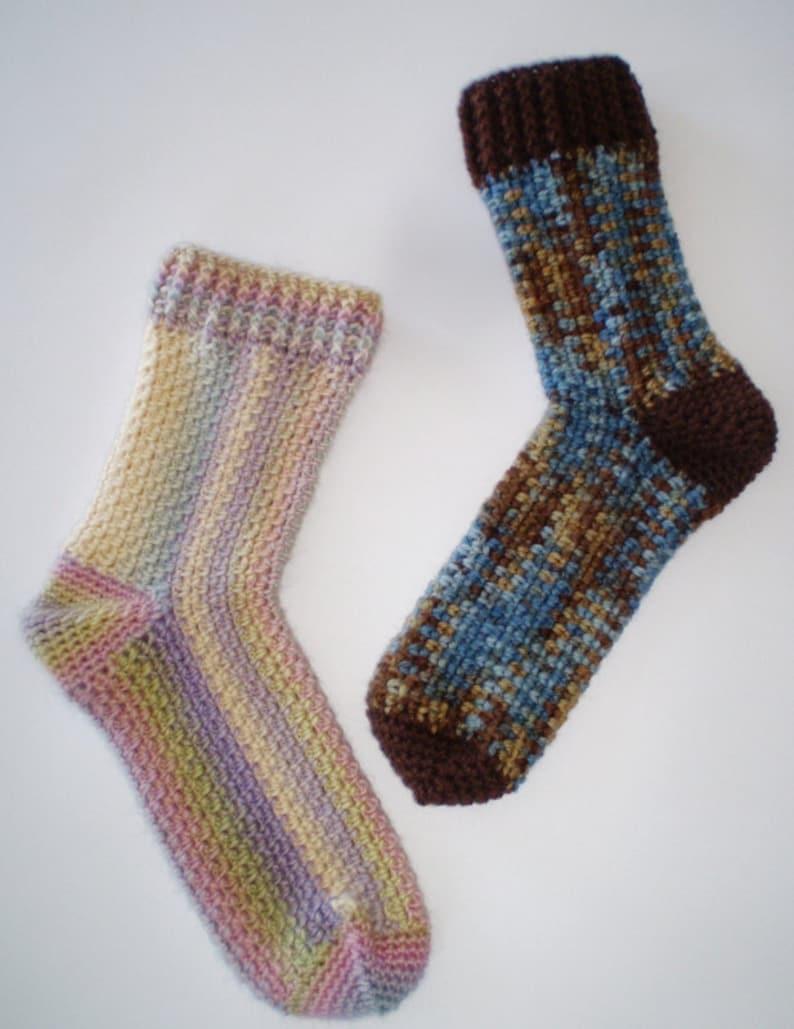 Crochet Pattern  Cosy 8 ply socks image 0