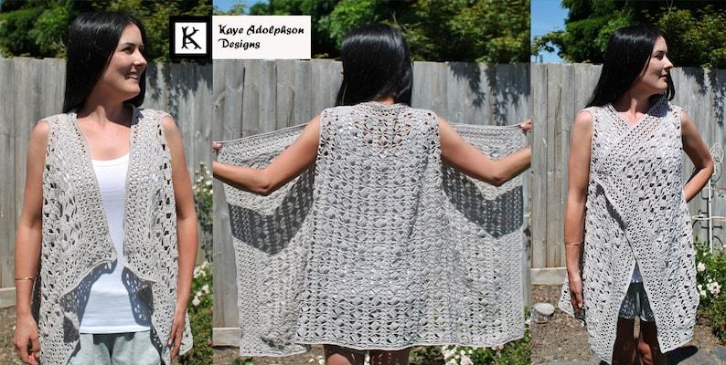Crochet Pattern  Cascade vest. image 0