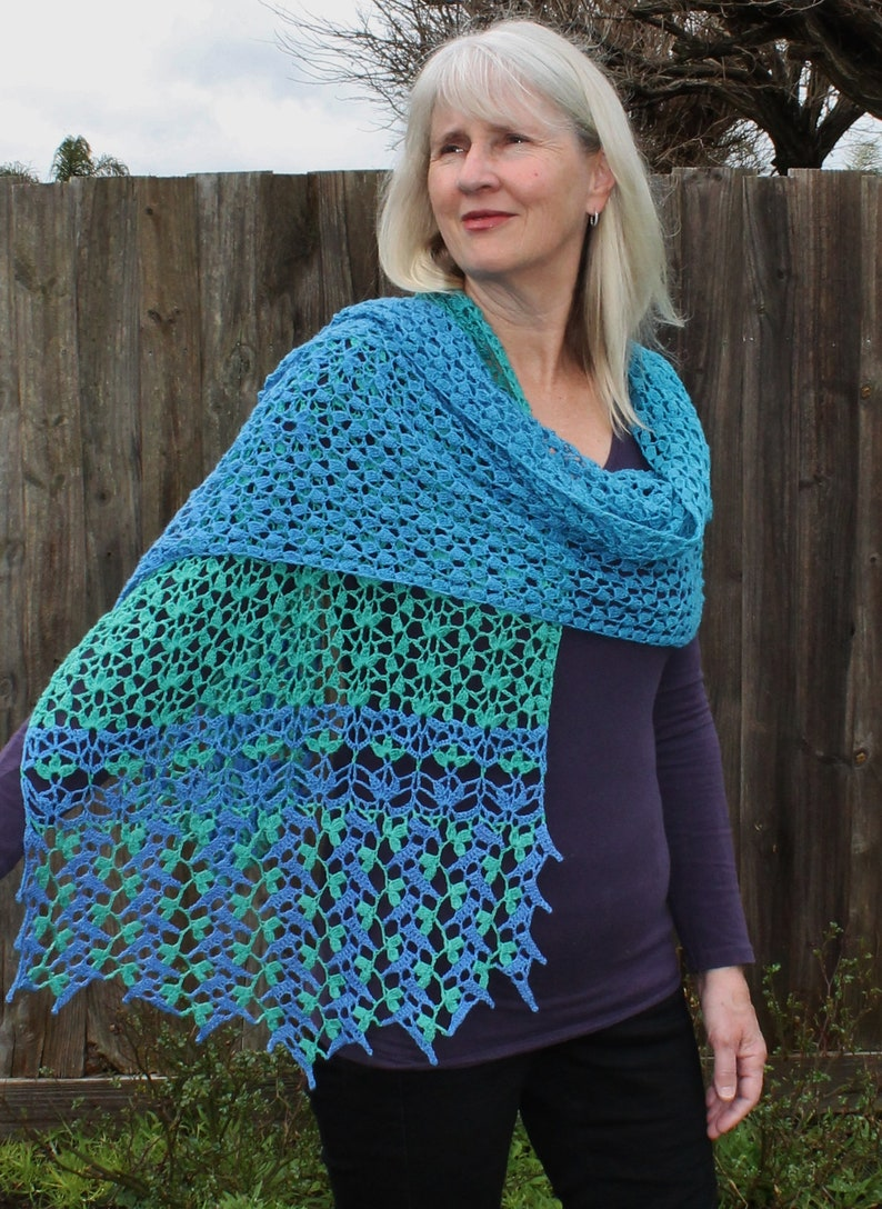 Crochet Pattern  Spring Garden Shawl image 0