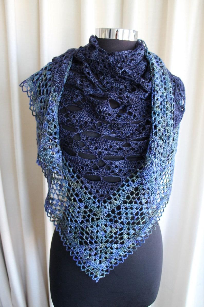 Crochet Pattern  Tree of Life Shawl image 0