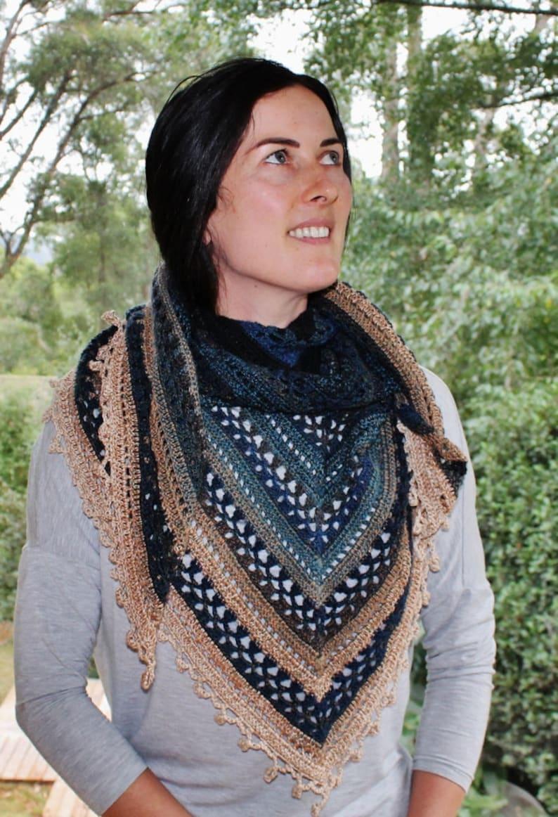 Crochet pattern Aztec Shawl image 0