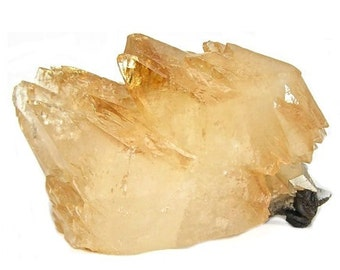 Elmwood Calcite Golden Orange Gemmy Crystal Tennessee Large Mineral Specimen, mined in the 1980s, USA Gem Stone, Collector's Choice