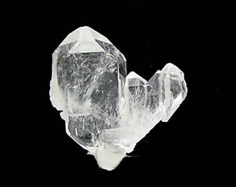 Quartz Gemstone Double Terminated Tabular clear rock crystal Arkansas Gem,  Tabby Faden with string, Mineral Specimen or Gemstone Focal
