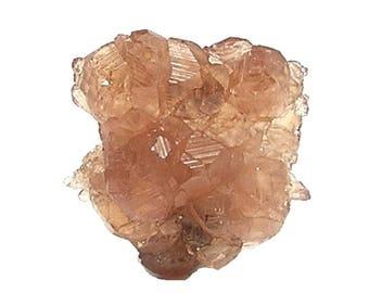 Garnet Crystal Cluster Sherry Grossular Natural Gemstone Jeffrey Quebec, Gem with Sharp Facets, Bright Luster, Treasured Gem stone Keepsake