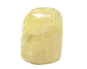 Danburite Lemon Yellow Gemstone Brilliant Tumble Polished Semiprecious Gem Stone Geo Charm
