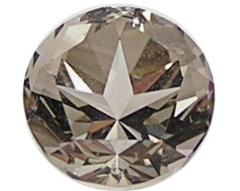 Smoky Quartz Faceted Texas Star Semiprecious Gemstone, extra- Brilliant, Special Custom Cut, Handcrafted in Texas