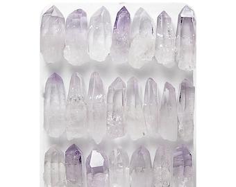 Amethyst Purple Raw Crystals Sticks Gemstones Violet Tiny Pixie Points Las Vigas Veracruz Amethyst Tiny Jewels, Semiprecious gems