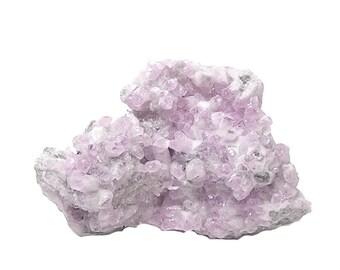 Calcite Pink Crystal Cluster Mineral Specimen, Pastel pink Cobaltian Cobalto Calcite on Rock Matrix, Aphrodite Stone
