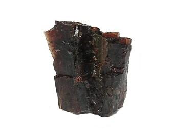Garnet Maroon Red Almandine Raw Gemstone Crystalline Geo Specimen Gore Mountain New York, Semiprecious Earth Treasure Nugget