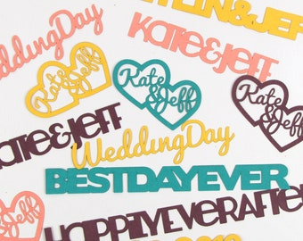 Personalized Laser-Cut Paper Confetti - Great for Weddings, Birthdays, and Special Events
