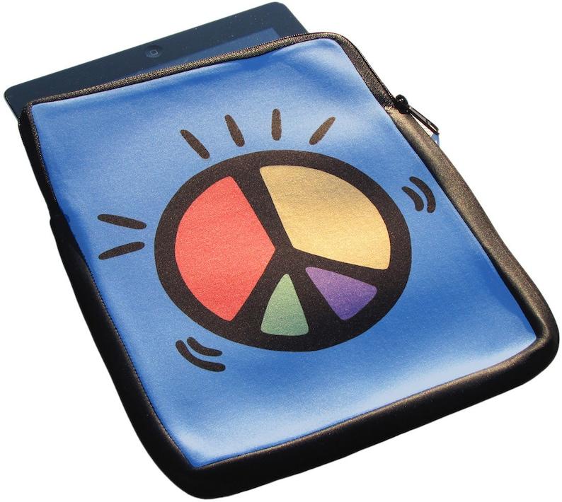 2 and 3 Neoprene Zippered Case Peace iPad 1 50/% off iPad Case Sale