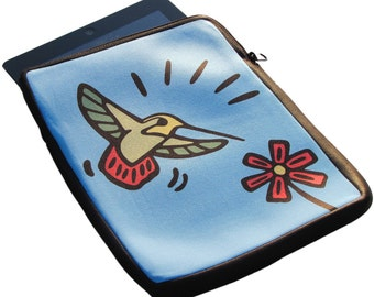 Hummingbird iPad 1, 2 and 3 Neoprene Zippered Case - 50% Off iPad Case Sales