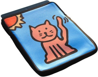 Cat iPad 1, 2 and 3 Neoprene Zippered Case - 50% Off iPad Case Sale