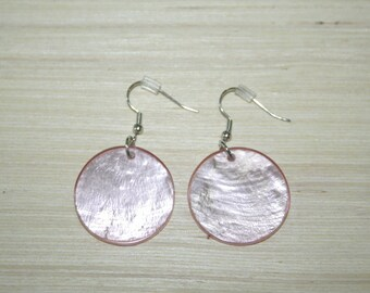 Earrings with real shells LZ-18-0117
