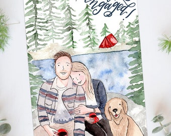 Couple Portrait, couple illustration, custom portrait, custom family portrait, custom illustration, wedding gift, anniversary gift, gift
