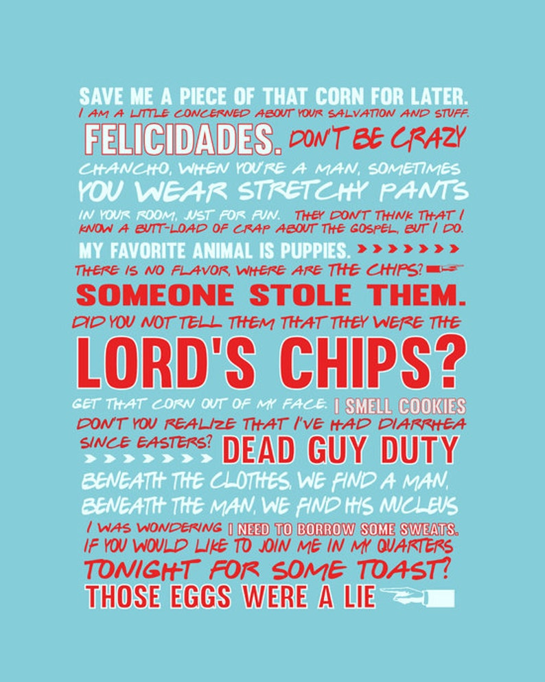 Nacho Libre Movie Quote Poster Digital File Etsy