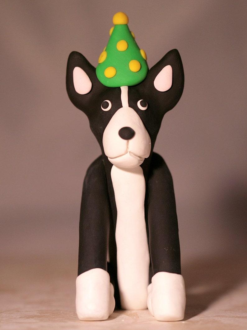 Boston Terrier Dog Birthday Cake Topper