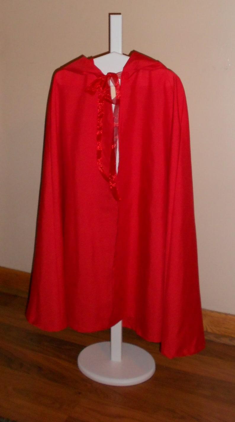 renaissance cloak Kids light weight costume cloak SCA cloak little red riding hood kids costume wizards cloak kids cape costume