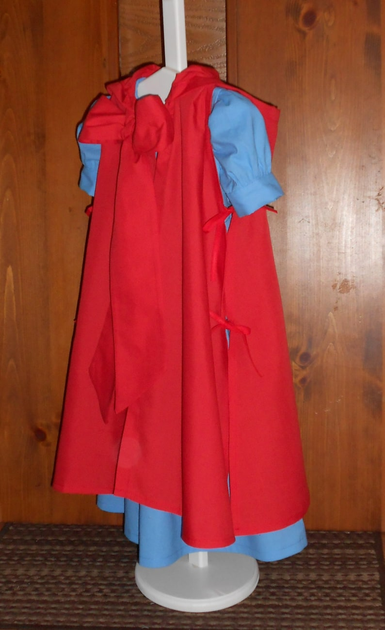 6ebfd7fea5 Little Red Riding Hood Costume Dress and Cloak Cosplay | Etsy
