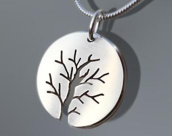 Silver Tree Pendants