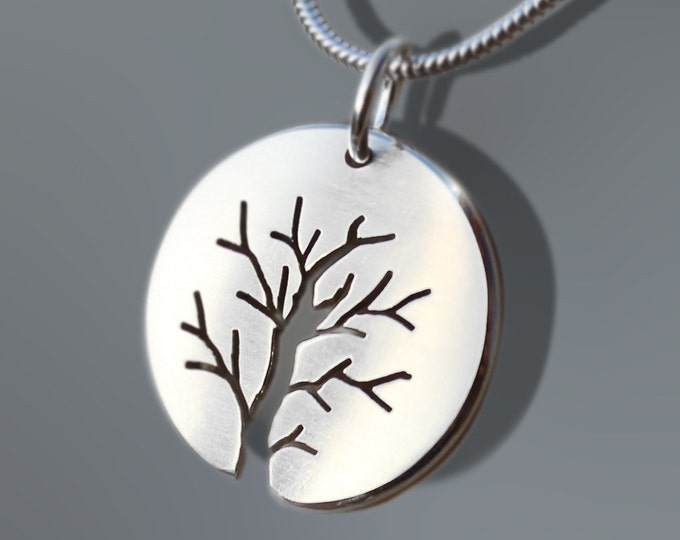 Featured listing image: Silver Tree Pendant, Silver Jewelry, Silver Pendant, Silver Jewellery.