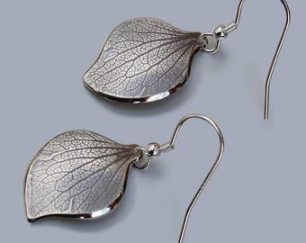 Petal Earrings, Silver Jewelry, Silver Jewellery, Silver Earrings, 'Drifting Petal' Earrings.