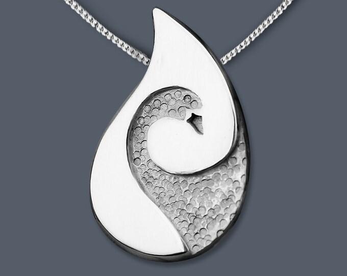 Swan Pendant, Silver Jewelry, Silver Jewellery, Bird Jewelry, Swan Pendant.