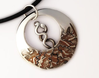 Earth Lovers, Silver Necklace, Sterling Silver Jewellery, Spring Pendant.