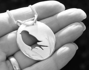 Silver Jewelry, Silver Pendant, Silver Jewellery, Bird Jewelry, Pendant