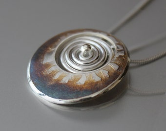 Energy Spiral Pendant, Silver Jewelry, Silver Pendant, Silver Jewellery.