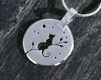 Silver Cat Pendants