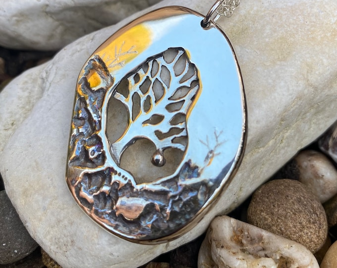 Featured listing image: Solitary Tree, Tree of Life Pendant, Silver Jewelry, Silver Pendant, Tree Pendant, Silver Jewellery.