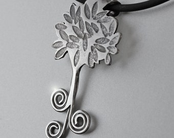 Spiral Tree Pendant, Silver Jewelry, Silver Pendant, Tree Pendant, Silver Jewellery