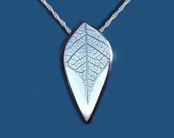 Silver Jewelry, Silver Pendant, Leaf Pendant, Leaf Jewellery