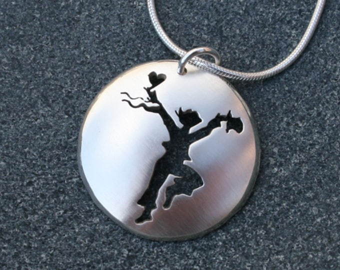 Energy Dance Pendant, Sterling Silver Jewelry, Dance Pendant.