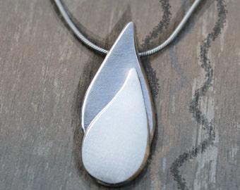 Water and Flame, Silver Pendant, silver jewelry, silver jewellery, Energy Pendant.