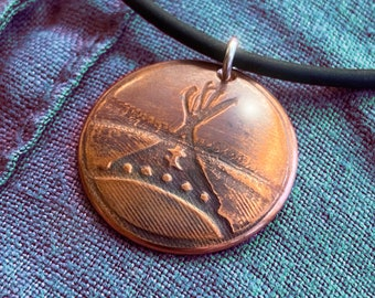 Copper Teepee Pendant,  Copper Jewelry, Copper Pendant, Necklace.