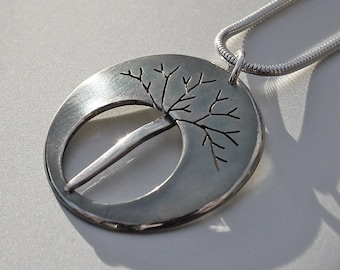 Midnight Tree Pendant, Silver Jewelry, Silver Pendant, Silver Jewellery, Oxidised Necklace.