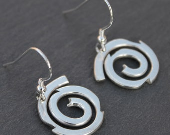Spiral Galaxy Earrings, Handmade Sterling Silver Jewelry, Silver Jewellery, Silver Earrings, Earrings.