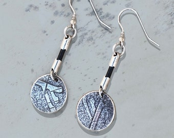 Runic Earrings, Handmade Sterling Silver Jewelry, Silver Jewellery, Silver Earrings, Earrings.