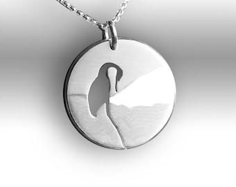 Crane Pendant, Bird Pendant, Silver Jewelry, Silver Jewellery, Silver Pendant, Bird Jewelry.